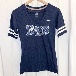 Tampa Bay Rays Nike V Neck Top Size Small